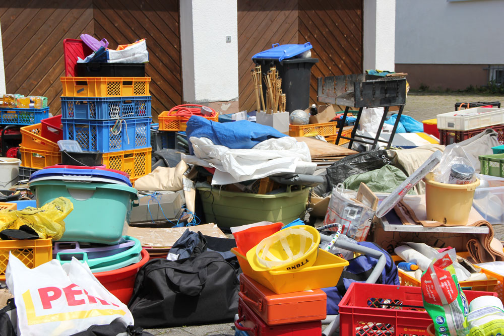 Garage aufräumen
